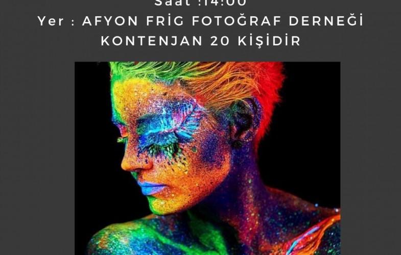 """Fujifilm  """"Neon Boyalar ile Portre"""" Atölyesi"""